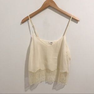 Wilfred Lace Bottom Tank in Ivory / Size M